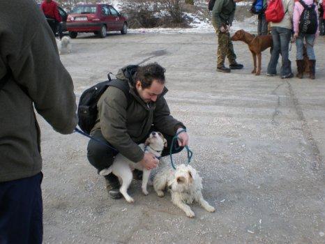 Rusty a jeho otec Putin alias Fanfán Tulipán Paleur s majiteľom Peťom